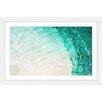 Parvez Taj 'Aqua Waves' Framed Graphic Art