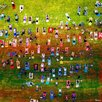 "Parvez Taj ""Group Yoga"" Painting Print on Wrapped Canvas"