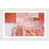 Parvez Taj Red Landscape Framed Graphic Art