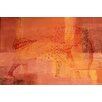 Parvez Taj Elephant in Red Graphic Art on Wrapped Canvas