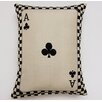 Creative Home Ace of Clubs Parchment Cotton Lumbar Pillow