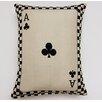 Creative Home Ace of Clubs Parchment Cotton Lumbar Pillow