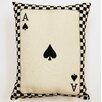 Creative Home Ace of Spades Parchment Cotton Lumbar Pillow