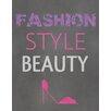 Secretly Designed Fashion Style Beauty Textual Art Paper Print