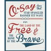 Secretly Designed 'Free and Brave' Textual  Art