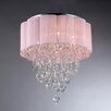Warehouse of Tiffany Eos 6 Light Crystal Drum Chandelier