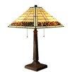 "Warehouse of Tiffany Stone Pattern 2 Light 23"" Table Lamp"