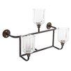 A&B Home Group, Inc Metal and Glass Candelabra