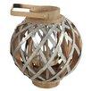A&B Home Group, Inc Wood & Metal Lantern