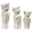 A&B Home Group, Inc 3 Piece Owl Family Decor Statue Set