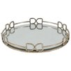A&B Home Group, Inc Round Glass Serving Tray
