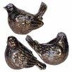 A&B Home 3-Piece Noelle Bird Decor Set