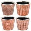 A&B Home 4 Piece Round Pot Planter Set