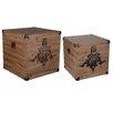 A&B Home Kinsley 2 Piece Decorative Storage Cube Set