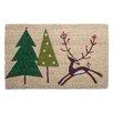 TAG Woodland Prancing Reindeer Doormat