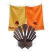 TAG 3 Piece Thanksgiving Turkey Pillar Holder and Dishtowel Set