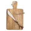 TAG Mango Wood Serving Board and Spreader Set