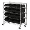 Sandusky Cabinets Mobile Bin Shelf with Bins