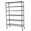 Sandusky Cabinets Mobile 5 Shelf Wire Shelving