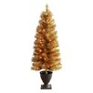 Winward Designs 4' Slim Christmas Tree with 50 Lights and Urn