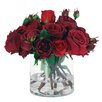 Winward Designs Red Roses in Glass Cylinder Vase