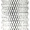"""Epoch Architectural Surfaces Mini 12"""" x 12"""" Glass Mosaic Tile in White (Set of 10)"""