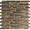 Epoch Architectural Surfaces Brushstrokes Marrone Random Sized Glass Mosaic Tile in Brown