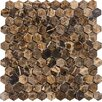 Epoch Architectural Surfaces Hexagon Marble Mosaic Tile in Emperador Dark