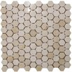"Epoch Architectural Surfaces Hexagon 1"" x 1"" Marble Mosaic Tile in Crema Marfil"