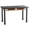 National Public Seating Dual Book Compartment Adjustable Height Science Table