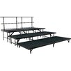 National Public Seating Portable Stage & Seated Riser Set in Carpet