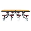 "National Public Seating 97"" x 59"" Rectangular Cafeteria Table"