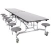 "National Public Seating 121"" x 59"" Rectangular Cafeteria Table"