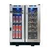 Vinotemp Mirrored 36 Bottle Single Zone Built-In Wine Refrigerator