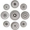 DwellStudio Constantine Wall Plates (Set of 9)