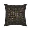 DwellStudio Woven Metallic Leather Throw Pillow