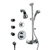 LaToscana Thermostatic Shower Faucet Set with Hand Shower and Body Sprays