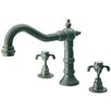 LaToscana Ornellaia Double Handle Deck Mount Roman Tub Faucet Trim Cross Handle