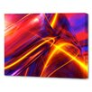 Menaul Fine Art 'Improv in Red Horizontal' by Scott J. Menaul Graphic Art on Wrapped Canvas