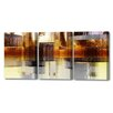 Menaul Fine Art 'City Rain Triptych' by Scott J. Menaul 3 Piece Graphic Art on Wrapped Canvas Set
