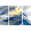 Menaul Fine Art 'Iced Blue Triptych' by Scott J. Menaul 3 Piece Graphic Art on Wrapped Canvas Set