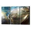 Menaul Fine Art 'Atlantis Triptych' by Scott J. Menaul 3 Piece Graphic Art on Wrapped Canvas Set