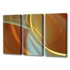 Menaul Fine Art 'Musings Natural Triptych' by Scott J. Menaul 3 Piece Graphic Art on Wrapped Canvas Set