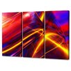 Menaul Fine Art 'Improvisation in Red Triptych' by Scott J. Menaul 3 Piece Graphic Art on Wrapped Canvas Set