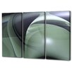 Menaul Fine Art 'Swirls Triptych' by Scott J. Menaul 3 Piece Graphic Art on Wrapped Canvas Set