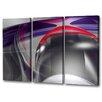 Menaul Fine Art 'Plum Swirls Triptych' by Scott J. Menaul 3 Piece Graphic Art on Wrapped Canvas Set