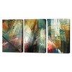 Menaul Fine Art 'Manhattan Atrium Triptych' by Scott J. Menaul 3 Piece Graphic Art on Wrapped Canvas Set