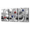 Menaul Fine Art 'Glass Rings and Spheres Triptych' by Scott J. Menaul 3 Piece Graphic Art on Wrapped Canvas Set