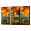 Menaul Fine Art 'Sunset Triptych' by Scott J. Menaul 3 Piece Graphic Art on Wrapped Canvas Set