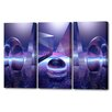 Menaul Fine Art 'Moonlight Triptych' by Scott J. Menaul 3 Piece Graphic Art on Wrapped Canvas Set